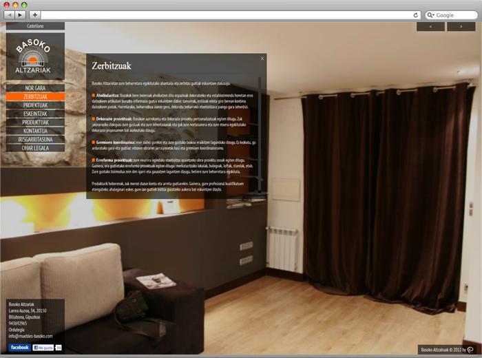 Muebles basoko lanak hamaika web web diseinua web for Muebles basoko